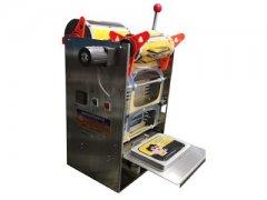 半自动鸭血盒封盒机